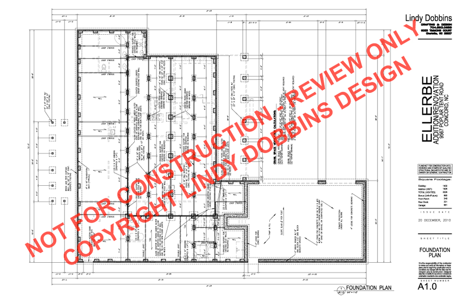 Foundation Plan Of A Residential House House And Home Design